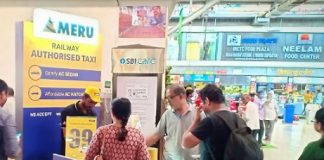 Meru Booking Counter at Main Area CSMT