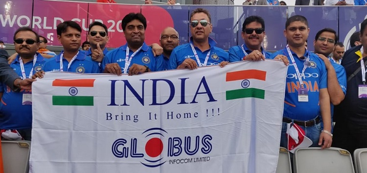Partners cheering for India at the Manchester Stadium