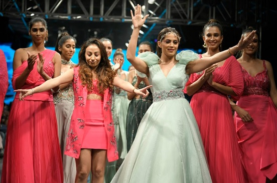 Designer Bani Khurana from NB Couture with her show stopper
