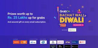 GrabOn Announces #BachatWaliDiwali Season 5 Powered By UberEATS, Medlife, Mi-Pay, and Tata CLiQ