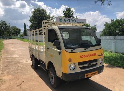 India's first Electric LCV retrofitted by E-trio