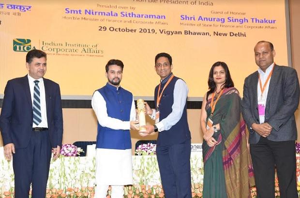 National CSR Awards 2019 - CSR & A2E Team receiving the Award