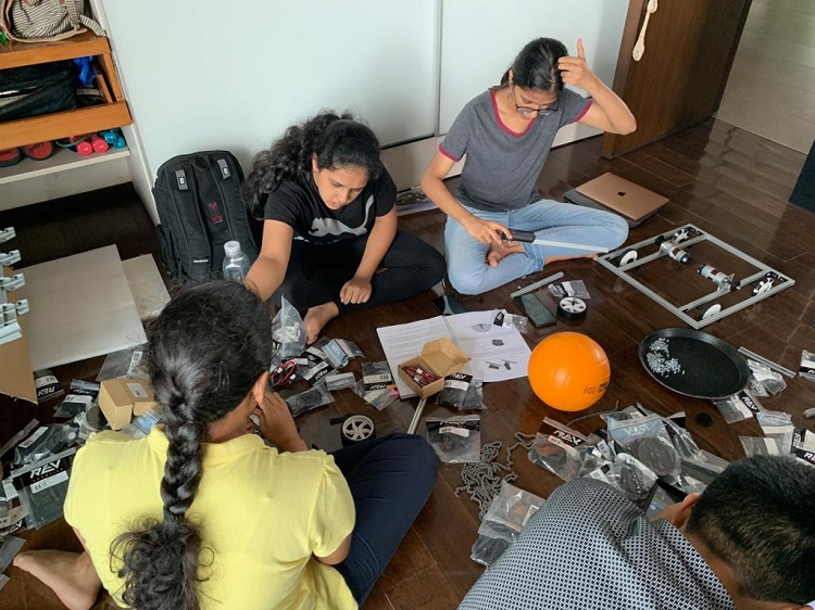The team of 5 girls, Geared-Up Girls (14 yrs-18yrs) will build and use robots to address the challenge of ocean pollution at a unique Olympics-style Robotics Challenge