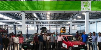 The technology team behind EV Conversions at E-trio facility