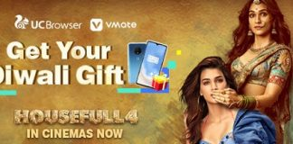 """Oct 29, 2019: New Delhi, Delhi, India: UC Browser, world's No.1 third-party mobile browser and a content platform, signed a strategic partnership with the recently-released Indian reincarnation comedy movie Housefull 4 for promotions. The partnership aims to enhance UC's content portfolio and offer its vast user base with trending and entertaining digital content. To offer its user entertaining content during the festival of lights, UC Browser, along with VMate – one of the most trending short video app, jointly introduced a series of engaging and customized in-app games around Housefull 4 and the Diwali Festival for Indian audiences. UC Browser - Housefull 4 By participating in a fun quiz on """"Which Housefull 4 character will you be reborn as"""" and posting movie-related video on VMate, UC users stand a chance to win OnePlus smartphones, cash, and much more from VMate. Popular VMate Vloggers such as Munna Adk, Anki21Actress and Charu have also entertained their users with duet around popular scenes from Housefull 4 trailer. Housefull 4, starring Akshay Kumar, Kriti Sanon, Riteish Deshmukh and others released on October 25 and is jointly produced by Fox Star Studios and Sajid Nadiadwala. It is a comedy film based on reincarnation, spanning a period of 600 years from 1419 to 2019. UC invited 6 actors and actresses of Housefull 4 to shoot a variety of exclusive videos, including star talks about """"who do you want to be born again"""", and playing the fun """"who am I"""" game. UC users can catch these interesting videos in-app and on UC's social media platforms. Commenting on UC, Housefull 4 team said, """"UC is a trustworthy partner with great potential in movie promotion. They can create fun short videos around movies, and there is a variety of interesting content, such as fun quizzes and interactive games, for movie fans to enjoy even before they can watch the movie in the theatres. All of these have helped our movies reach a large number of fans online ahead of the screening and """