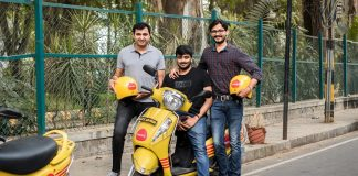 Varun Agni (CTO), Vivekanand H R (CEO), and Anil G (COO) of Bounce