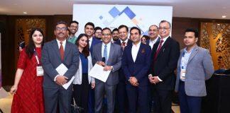 Dr. Indu Bhushan, CEO, NHA and Dr. Sudarshan Ballal, President, NATHEALTH inaugurating NHA-NATHEALTH Startup Carnival