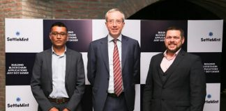 Mr. Fatmi Shahzad, CEO, SettleMint India, The Belgian Ambassador, H.E. Mr. Francois Delhaye, Mr. Matthew Van Niekerk, Co-founder & CEO, SettleMint N.V.