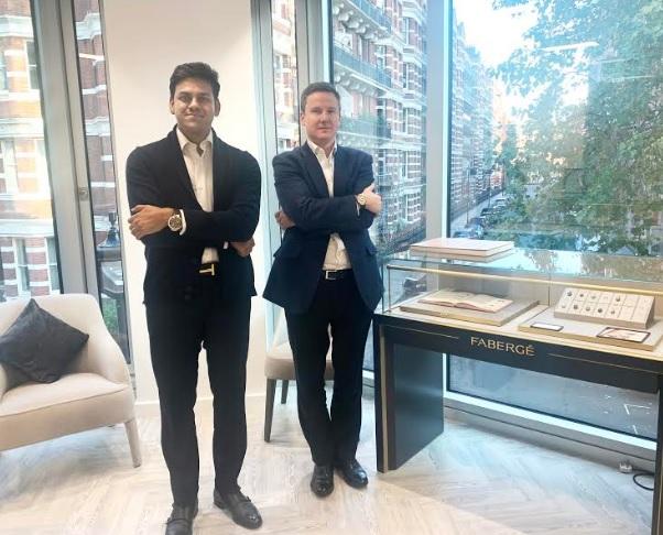 Mr. Rishabh Tongya - Creative Director, DIACOLOR and Mr. Antony Lindsay, Managing Director Fabergé
