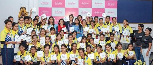 Senitta Spreading Dioxin Awareness & Debunking Menstrual Hygiene Myths In Schools at Lucknow