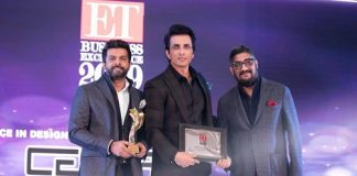 The CentriX Projects team receiving the economic times excellence award