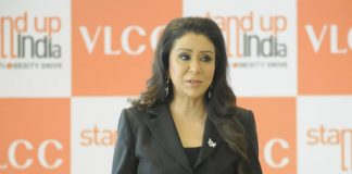 VLCC Foundation Founder Vandana Luthra, while announcing the stand-up campaign in Mumbai said