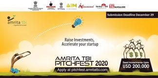 Amrita TBI announces PitchFest 2020, invites startups for funding support