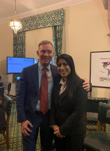 Kajri Babbar with MP Chris Bryant