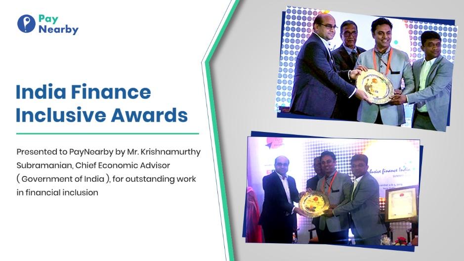 PayNearby wins 'Best Fintech Innovation in Financial Inclusion' Award