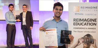 "Rahul Adhikari, Founder of ""International Changemaker Olympiad"", receiving the ""Oscars"" of Education in London"