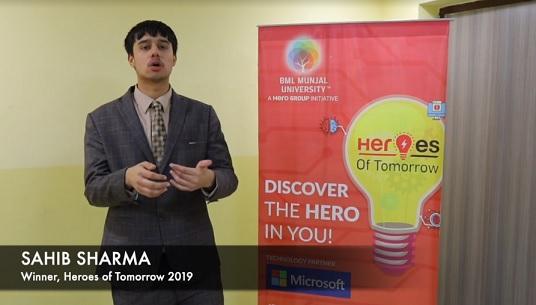 Sahib Sharma Heroes of Tomorrow 2019