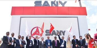 Sany Officials at Excon 2019 during the launch of new product line