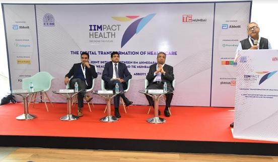 L - R: Amit Mookim (TiE Mumbai) - Jawed Zia (Abbott) - Pankaj Patel (Zydus Cadila) - Rakesh Basant (IIMA) at the conference