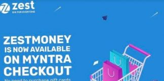 ZestMoney's 0% interest offer in Myntra