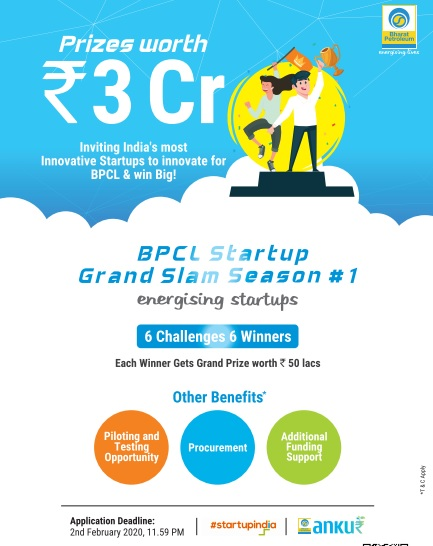BPCL Launches Startup Grand Slam with Mega Prize Money