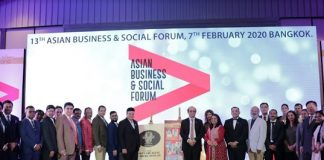 13th Asian Business & Social Forum 2020, held at Bangkok