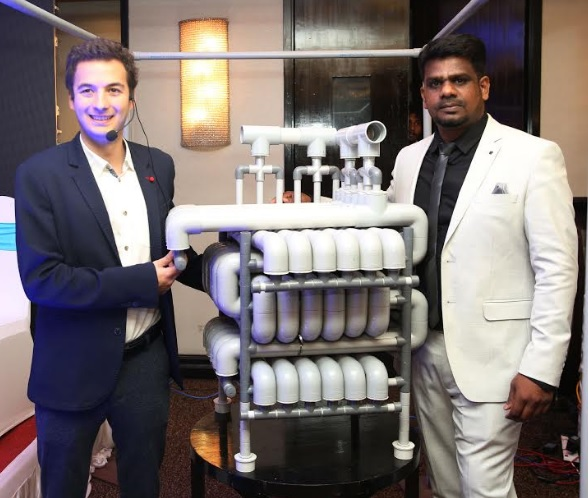 Mr. Enes Kutluca, CEO, Biopipe Global Corp and Mr. Senthil Kumar, MD, Environest Global launches the World's first biological noiseless sludge free and odour free sewage waste treatment plant