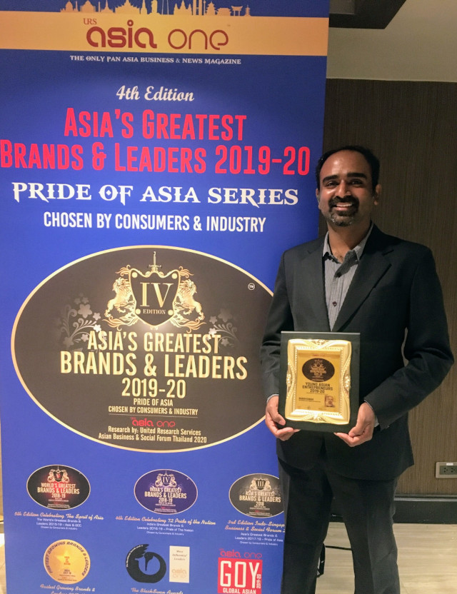 Indian startup IamHere wins at the annual AsiaOne Awards