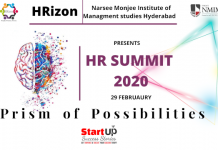 The HR Club of Narsee Monjee Institute of Management and Studies, Hyderabad to organise HR Summit 2020 on 29th Feb, 2020