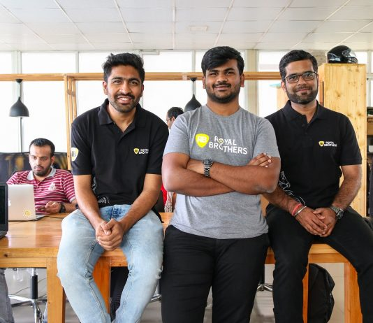 Akash S, Abhishek Chandrashekar and Kuldip Purohit - Cofounders of Royal Brothers