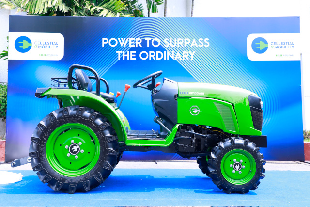 Cellestial E-Mobility Unveils New Electric-Tractor with Battery Swap & Regenerative braking