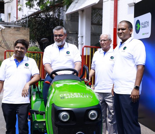 Cellestial Mobility Founders (L-R) Siddarth Durairajan, Founder & CEO, Syed Mubasheer Ali - Co-Founder & Partner, Vinod Moudgil, Director, Midhun Kumar - Director Manufacturing