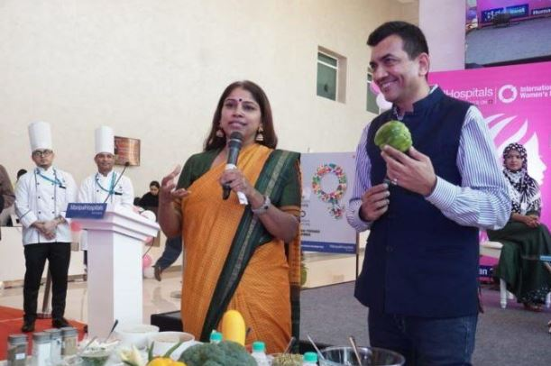 Healthy Diet is Healthy Women - Celebrity Chef providing tips for healthy food during a panel discussion at Manipal Hospitals Dwarka, New Delhi