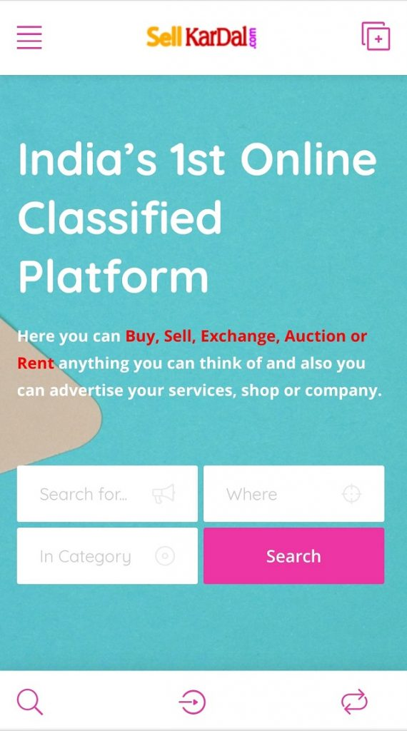 sellkardal India - a Unique C2C based startup
