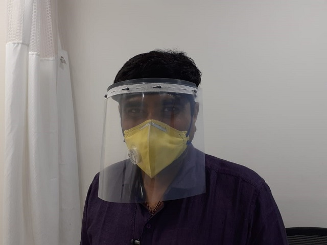 Dayananda Sagar University Designs Face Shields for Medical Professionals