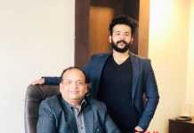 Karan with his Father Mr. Raj Gupta