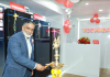 Pranab Mohanty, Vice President & Business Head Toshiba HA Business, lighting a lamp at inauguration of India's First Toshiba Lifestyle Centre