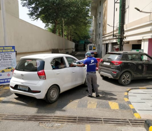Park+launches Drive-Through COVID Vaccination Camp in parking lots in Gurugram